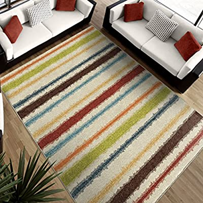 Orian Rugs Striped Lines of Color Multi Rug