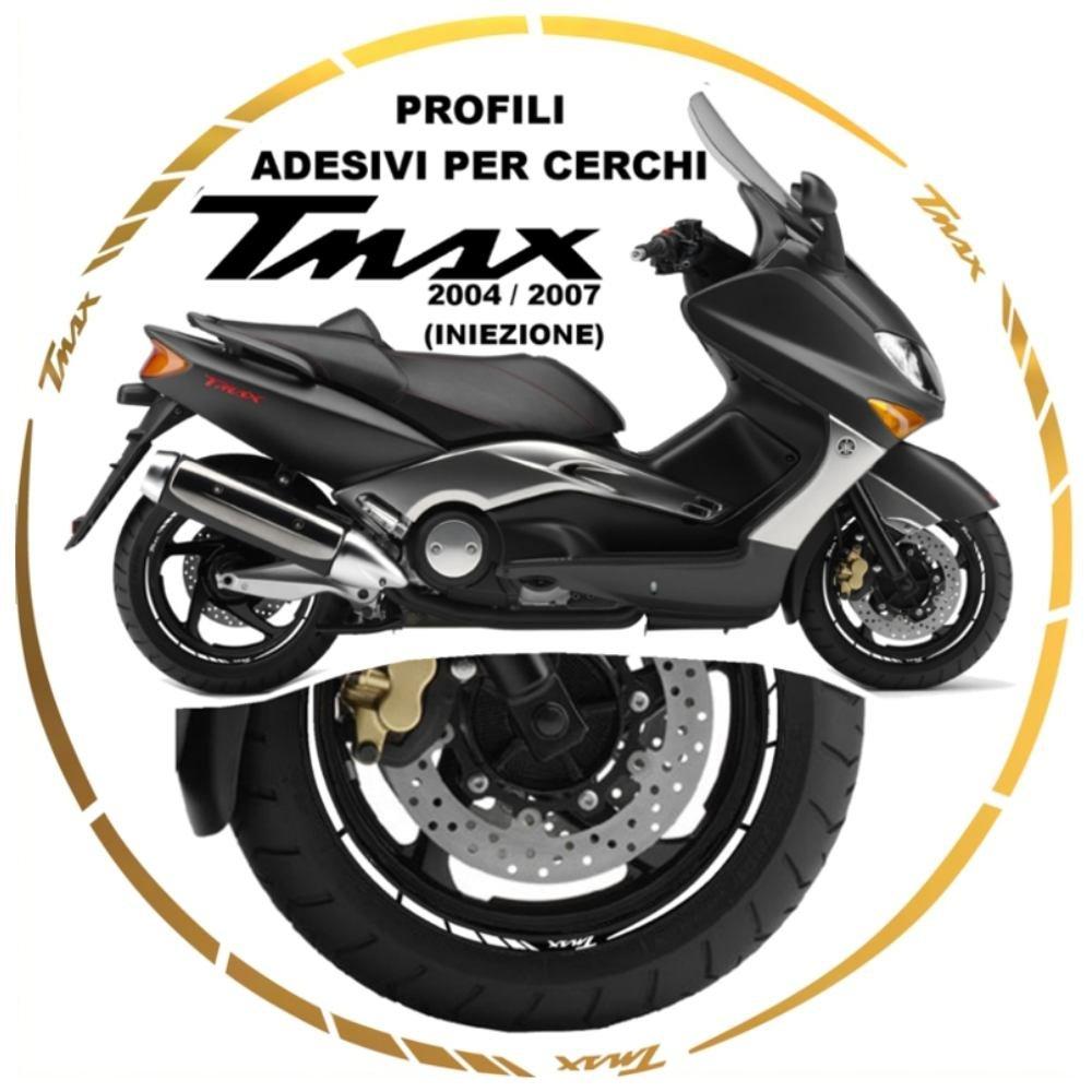 ADESIVI CERCHI WHEEL STRIPES PROFILO RUOTA ORO XP 500 TMAX T-MAX 04//07
