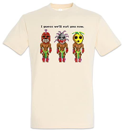 sports shoes b5f60 6f515 The Secret Cannibals T-Shirt – Cannibale Monkey Game I Guess We'll Eat You  Now Island of T-Shirt Taglie S – 5XL