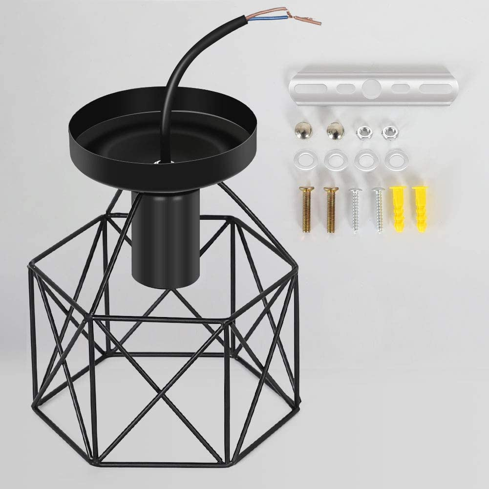 /éclairage de plafond industriel de salon salle /à manger h/ôtel restaurant bar noir Suspension de plafonnier