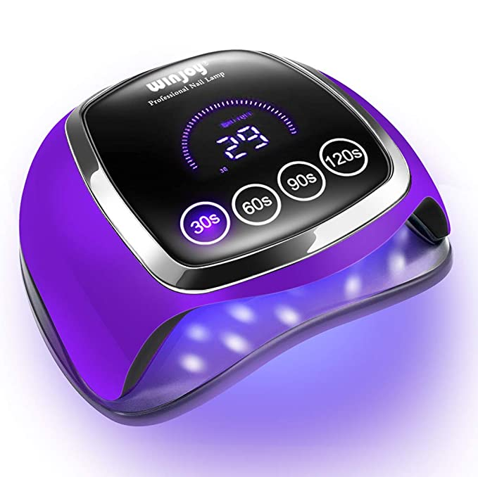 Amazon.com: UV LED Nail Lamp for Gel Nails, Winjoy 168W UV Nail Dryer for Gel Polish with 4 Timmer Settings, Auto Sensor and LCD Touch Screen, Professional Nail Curing Lamp for Salon and Home Use: Beauty