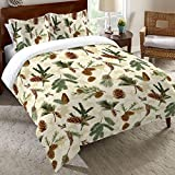 Pinecones and Wildlife Duvet Cover - Twin