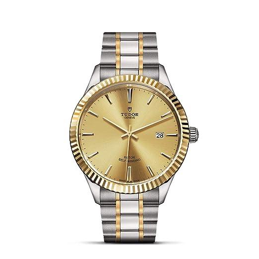 Tudor Style Reloj de Hombre automático 41mm Caja de Acero M12713-0001: Amazon.es: Relojes