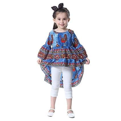 Vestido de bebé, huhuhua niños bebés niñas con impresión de pavo real media linterna Slevee