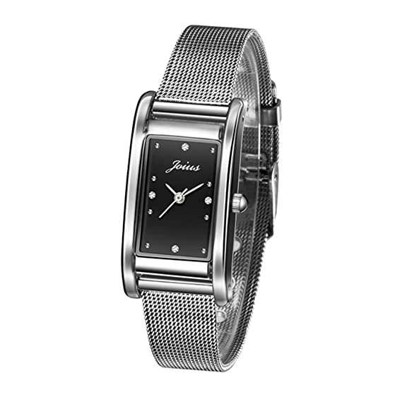 El Reloj Femenino Retro Cuadrado/Ver Amantes de la Moda de Estudiante/Lista de Reloj de Cuarzo muñeca Neutral-Q: Amazon.es: Relojes