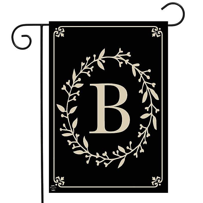 Top 9 Initial Monogram B Garden Flag