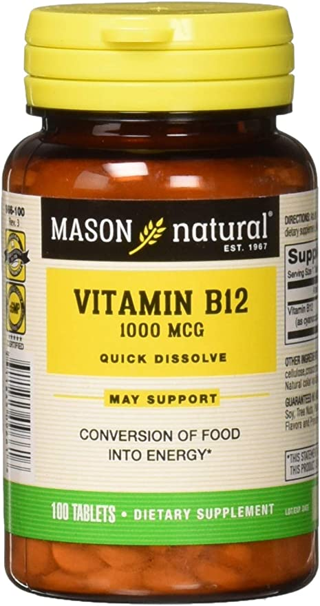 Vitamin B-12 Methyl 1000mcg x 180 Tablets,Made in UK,PremierVits