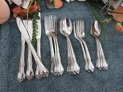 1881 Rogers Oneida - CELEBRITY: Vintage 18/8 USA SSS Stainless Flatware Lot Rose 20pcs 4 Place Settings