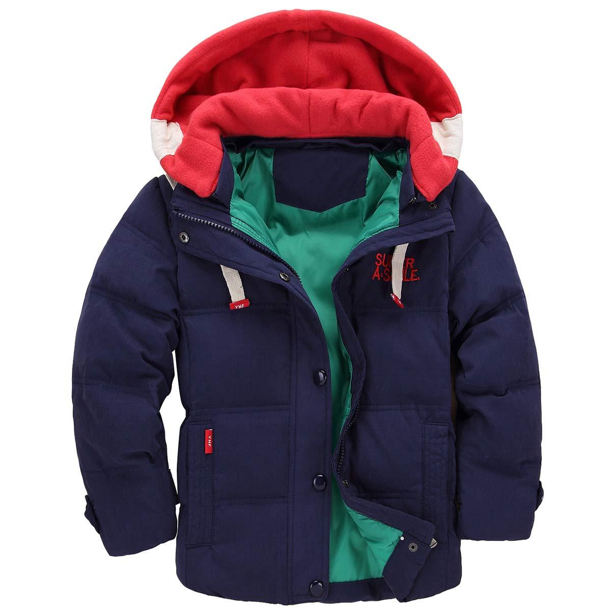 Taigood Bambino Giubbotto Piumino Invernale Caldo Leggero Removibile Cappotto con Cappuccio Ragazzi Ragazze Jacket 3-8 Anni FF-ETWT-12
