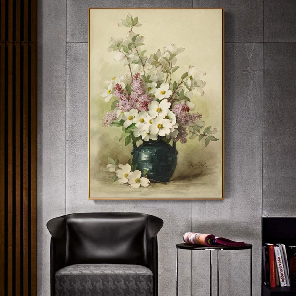 baodanla Sin Marco Impresionista Flor Pintura al óleo florero Flor ...