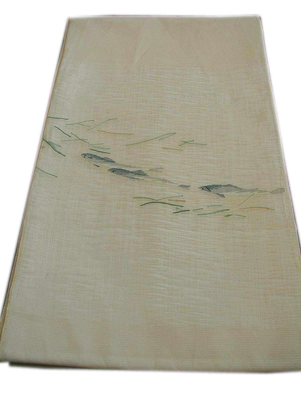 博多着物市場 きものしらゆり 夏帯 紬小紋用 鮎 紗 袋帯 正絹 B07FY132RK  -