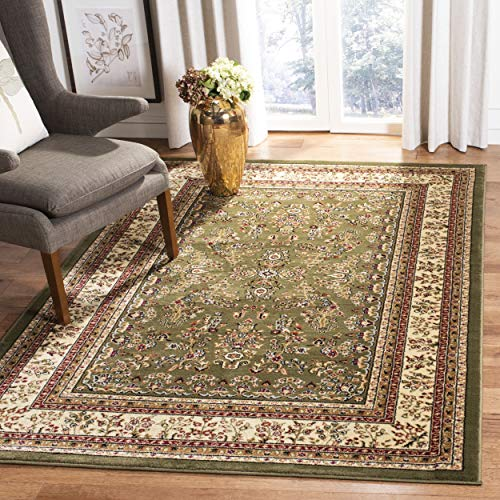 - Safavieh Lyndhurst Collection LNH331C Traditional Oriental Sage and Ivory Area Rug (5'3