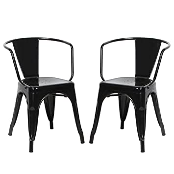 VIVA HOME Metal Dining Bistro Cafe Side Chairs Indoor Outdoor Chair  Set of. Amazon com  VIVA HOME Metal Dining Bistro Cafe Side Chairs Indoor