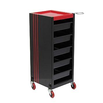 ATCART 6 Tiers Salon Carro para Pelo Estilista Peluqueria Carrito Belleza Mueble Almacenamiento Color Bandeja con
