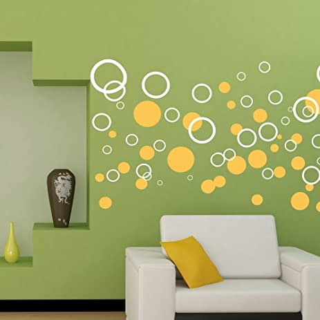 Amazon.com: The Hollow Circle Removable Vinyl Wall Decals Custom ...
