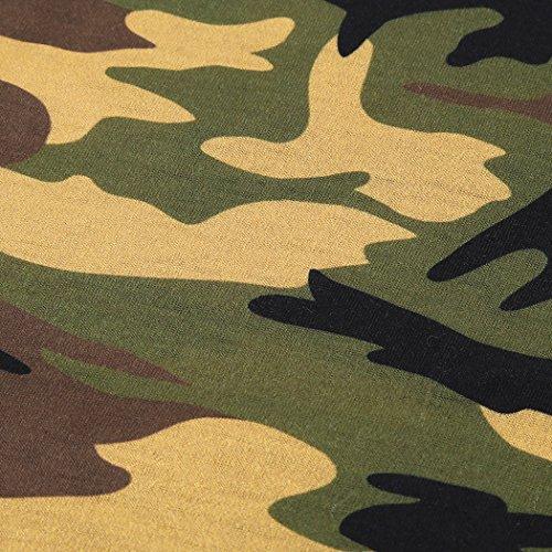 MIOIM Damen Tops Sommer Camouflage T-Shirt Tank ärmellos Oberteile Freizeit Tee Baumwolle Weste Rundhals