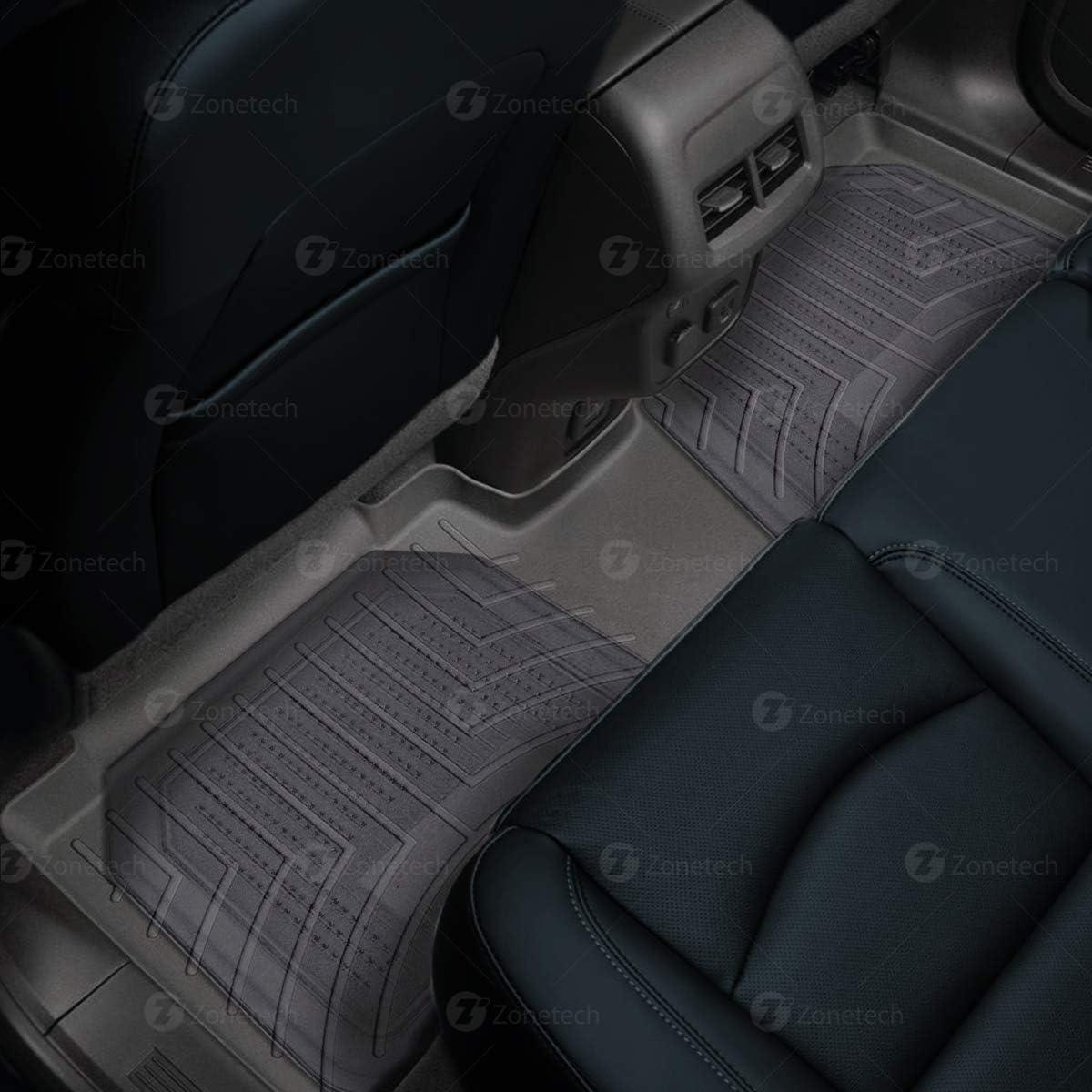 Zone Tech All Weather Full Rubber Clear Car Interior Floor Mats 4-Piece Set Clear Heavy Duty Car Interior Floor Mats