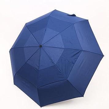 Paraguas De Viaje Compacto Construcción De Toldo Doble A Prueba De Viento - Botón De Cierre