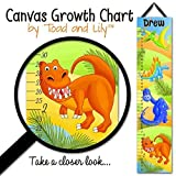 Canvas GROWTH CHART Bright Dinotastic Dinosaurs Kids Bedroom Baby Nursery Wall Art GC0104