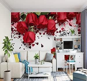 FHOMEY Papel Pintado Murales 3D Románticos Y Cálidos