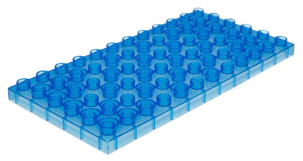 100/% Compatible with All Major Large Brick Brands 12 Stackable Baseplates: Rainbow Colors Classic Big Briks Baseplates by Strictly Bricks Premium 7.5 x 3.75 Large Brick Building Base Plates