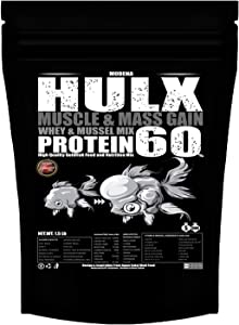 HULX Goldfish Food Sinking Pellets for Big Muscle & Mass Weight Gain, Whey Mixed High Protein 60% Fish Food Growth Fast Formula 1.37 Lb.(620 Gram.) 1mm, Healthy, Color Enhancing Clear Water Fish Feed