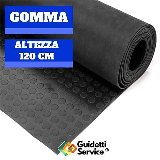 Alfombra de goma antideslizante de rayas altura 120 cm de Guidetti Service /®