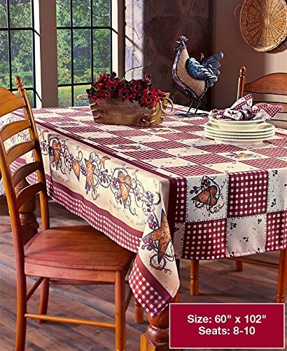 Linda Spivey Kitchen Decor Table Cloth Linens Primitive Country Hearts Stars TableCloth (Linda Spivey Hearts And Stars)