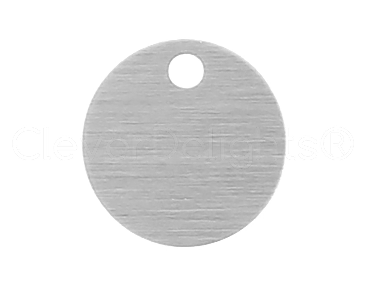 22 Gauge Aluminum .025 Circle Discs Tags CleverDelights 1//2 Round Stamping Blanks 50 Pack
