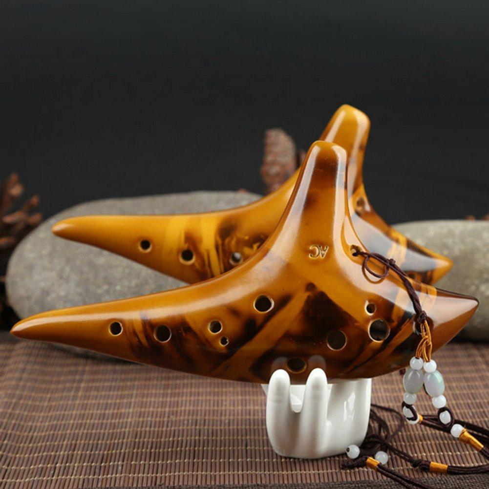 Flauta de cer/ámica Ocarina Hot por BouT Ocarina Of Time Alto C 12 Hole Legend Zelda Smolding