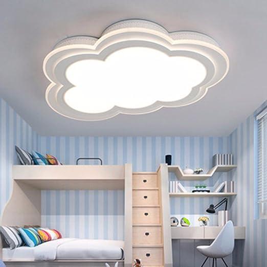 LighSCH Luces de techo Los niños nubes lámpara sencilla y moderna habitación cálida Protección Ocular Creativo Accesorios lámpara Led 30W luz cálida ...