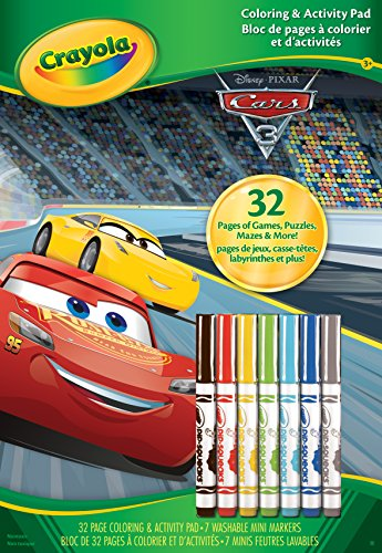 - Crayola Cars 3 Coloring & Activity Pad with Markers