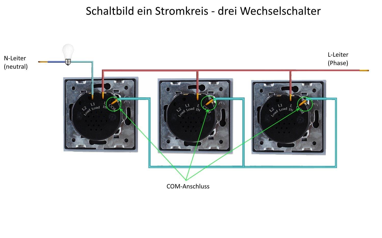 Wunderbar Neutral Und Stromführende Drähte Galerie - Schaltplan ...