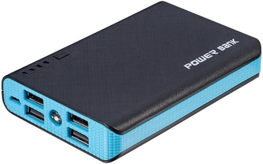 TAVLAR Portable 4USB LED 50000mAh Power Bank External Backup Battery Charger For Phone Black