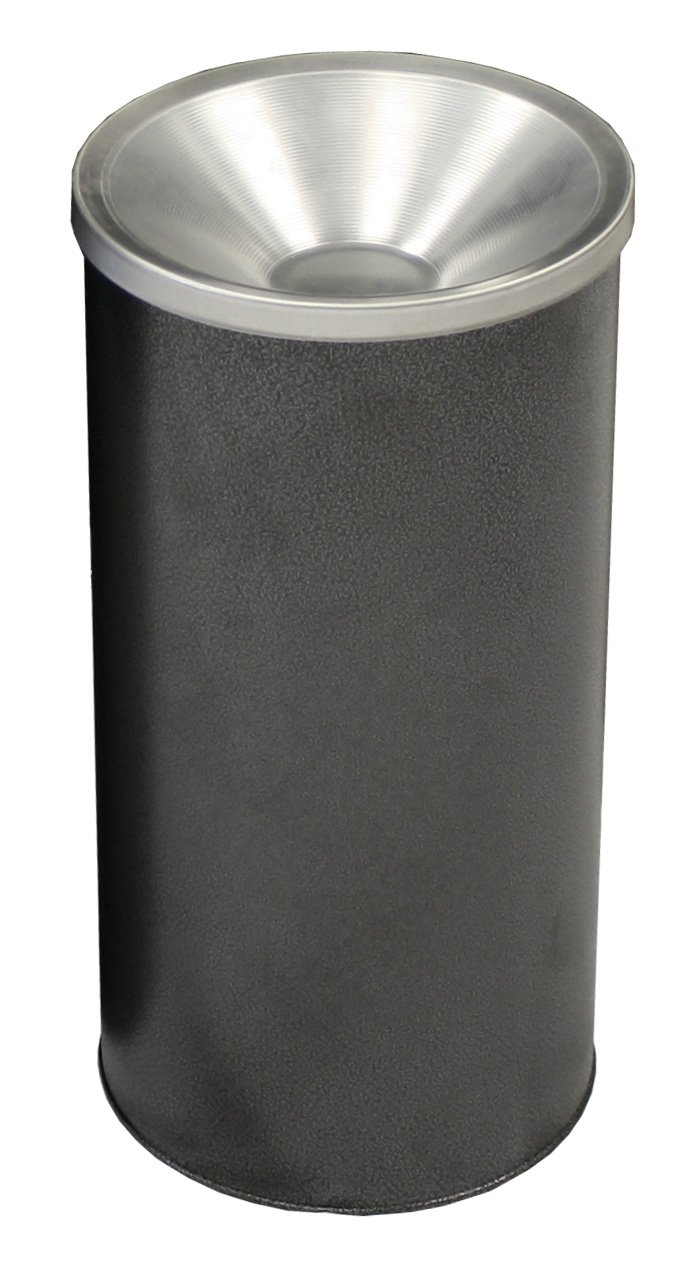 Witt Industries 2000SVN Steel Urn Ash Receptacle, Round, 10'' Diameter x 20'' Height, Silver