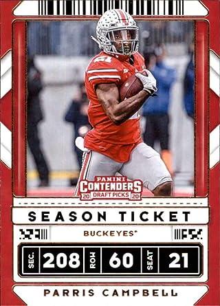 Campbell Ohio Halloween Hours 2020 Amazon.com: 2020 Contenders Draft (NCAA) Football Season Ticket