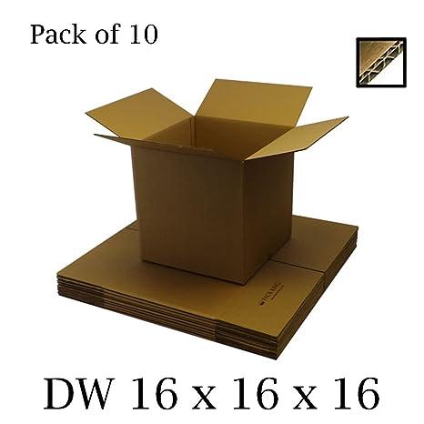 10 cajas de cartón de doble pared, color marrón, para envíos postales, correos