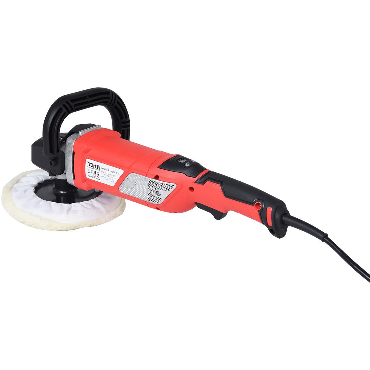 Globe House Products GHP 7'' Pad Size 1200W 0-4000RPM Variable Speed Electric Car Polisher with Case by Globe House Products (Image #3)