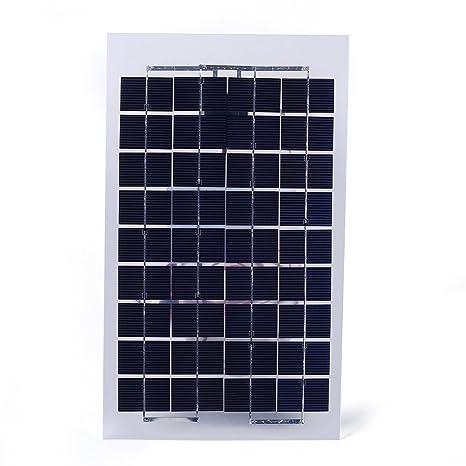 Amazon.com: Hongfei - Cargador de batería con panel solar ...