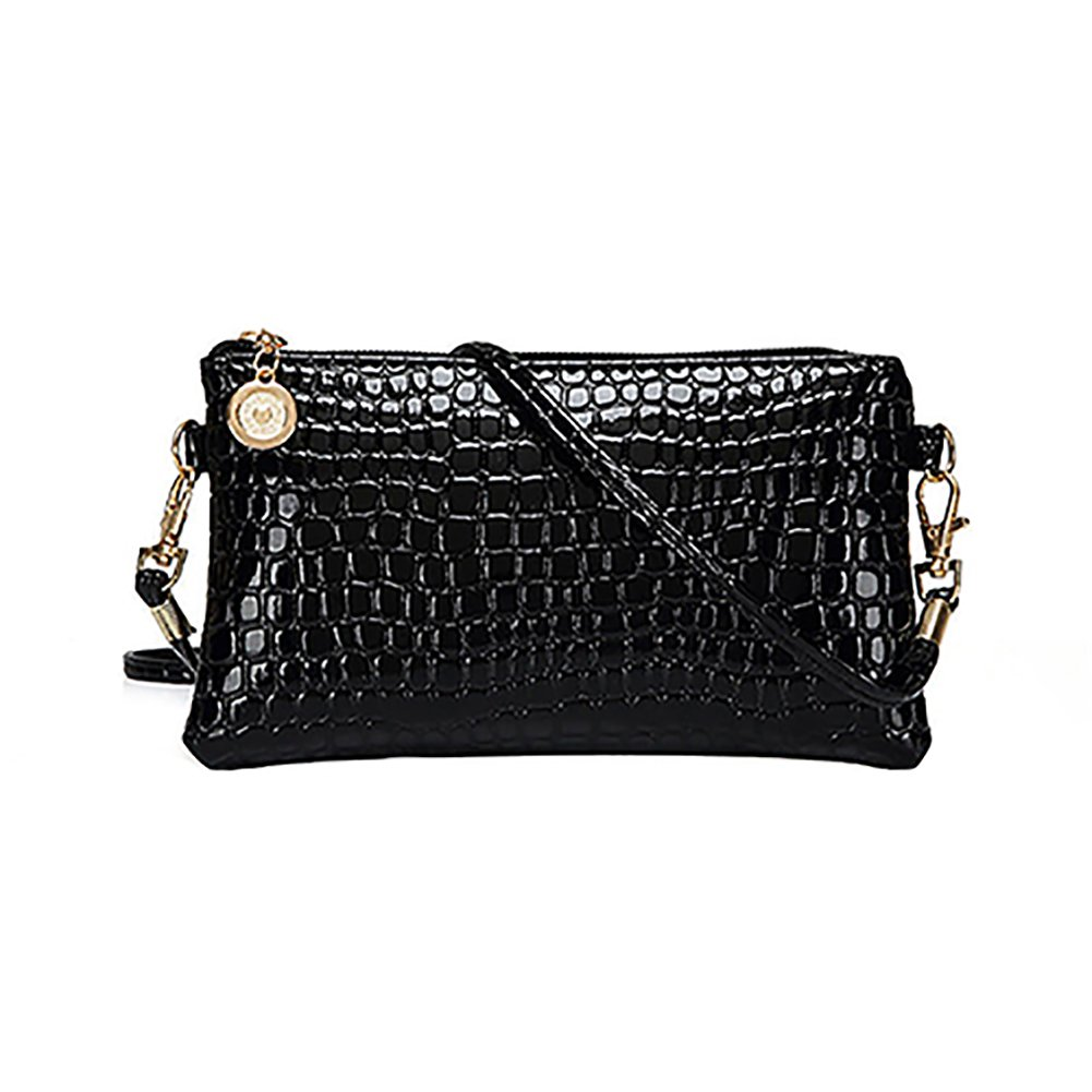 Women Faux Leather Zipper Clutch Mini Cross Body Shoulder Bag Phone Bag