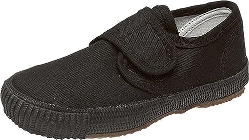 Kids//Small Adults Unisex Elastic Plimsolls Black