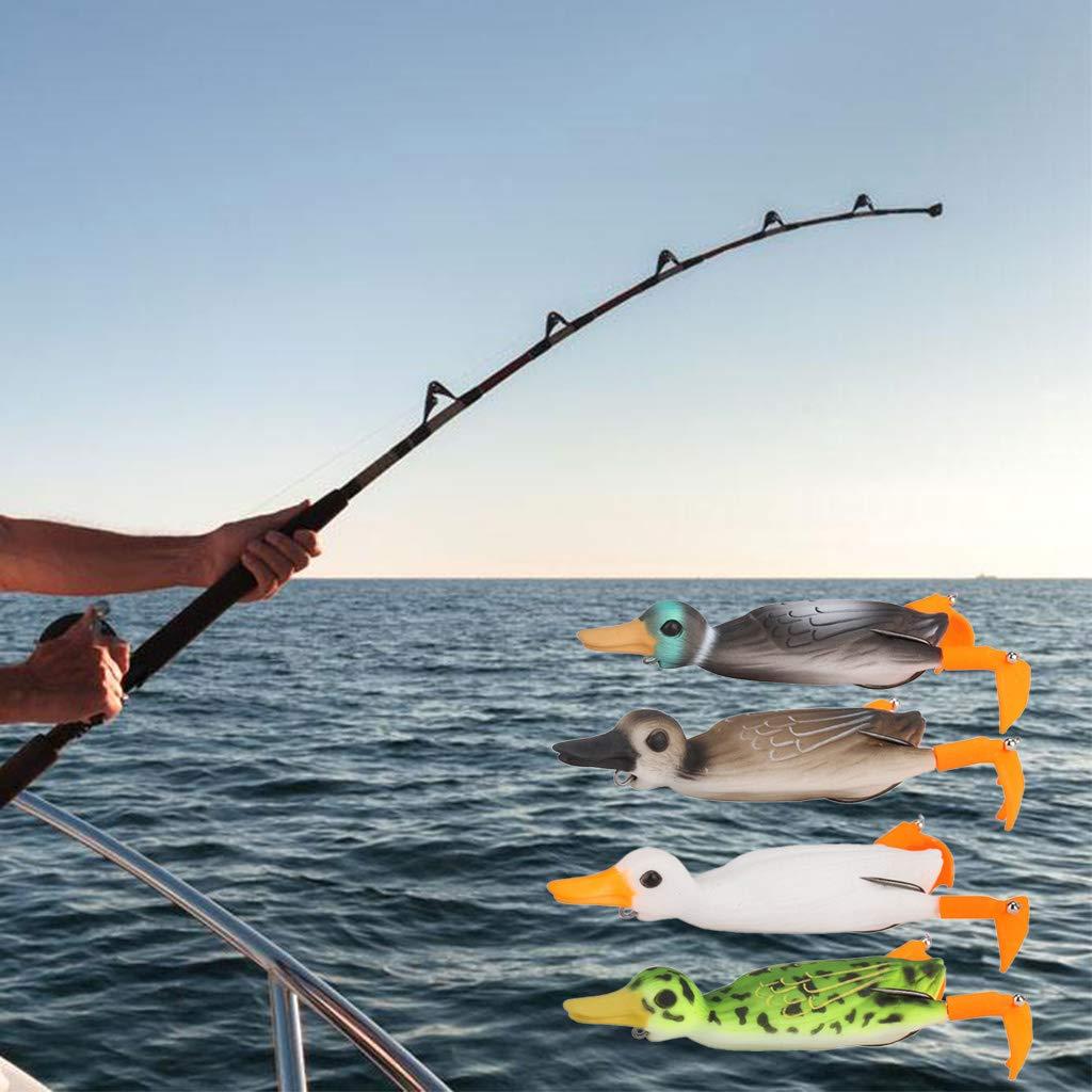 18,5 g HavanaYZ Cebo de pesca suave dise/ño de rana de pato A. 10 cm
