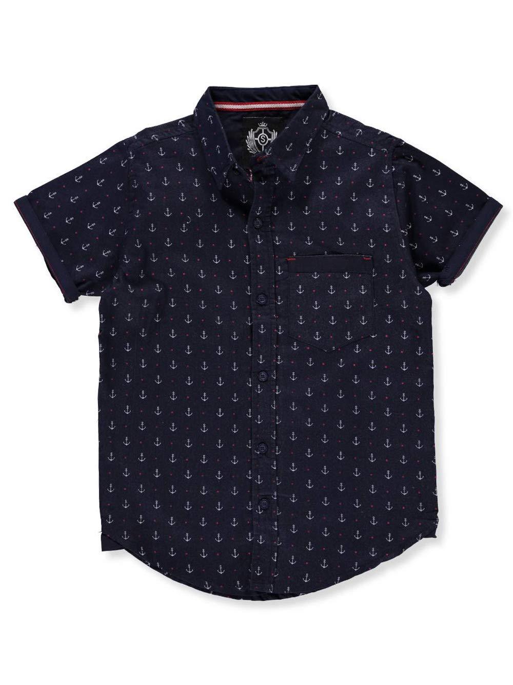 SilverStone Boys' S/S Button-Down Shirt Silver Stone