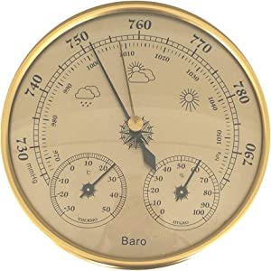 LIOOBO Dial Type Barometer Thermometer Hygrometer Weather Station Barometric Pressure Temperature Humidity Measurement 3 in 1