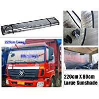 Extra Big Large Huge Sunshade for Car Van Bus Truck SUV Windscreen Glass Sun Shade Heat Reflective, 220cm x 80cm, Au…