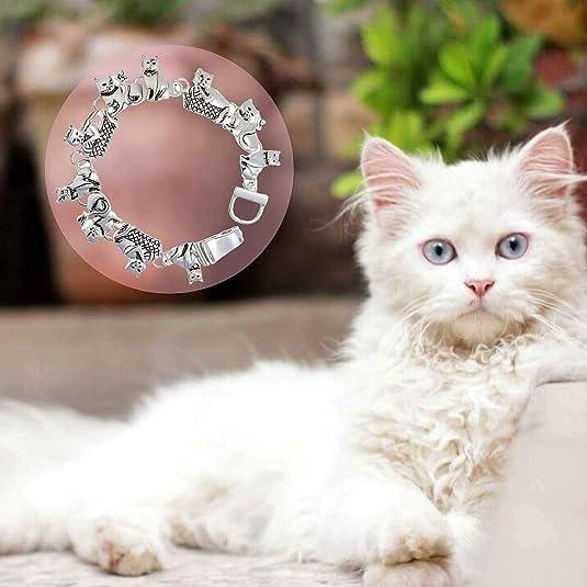 Cat Bracelet November Birthstone Bangle Cat Bangle Gift for Cat Lover