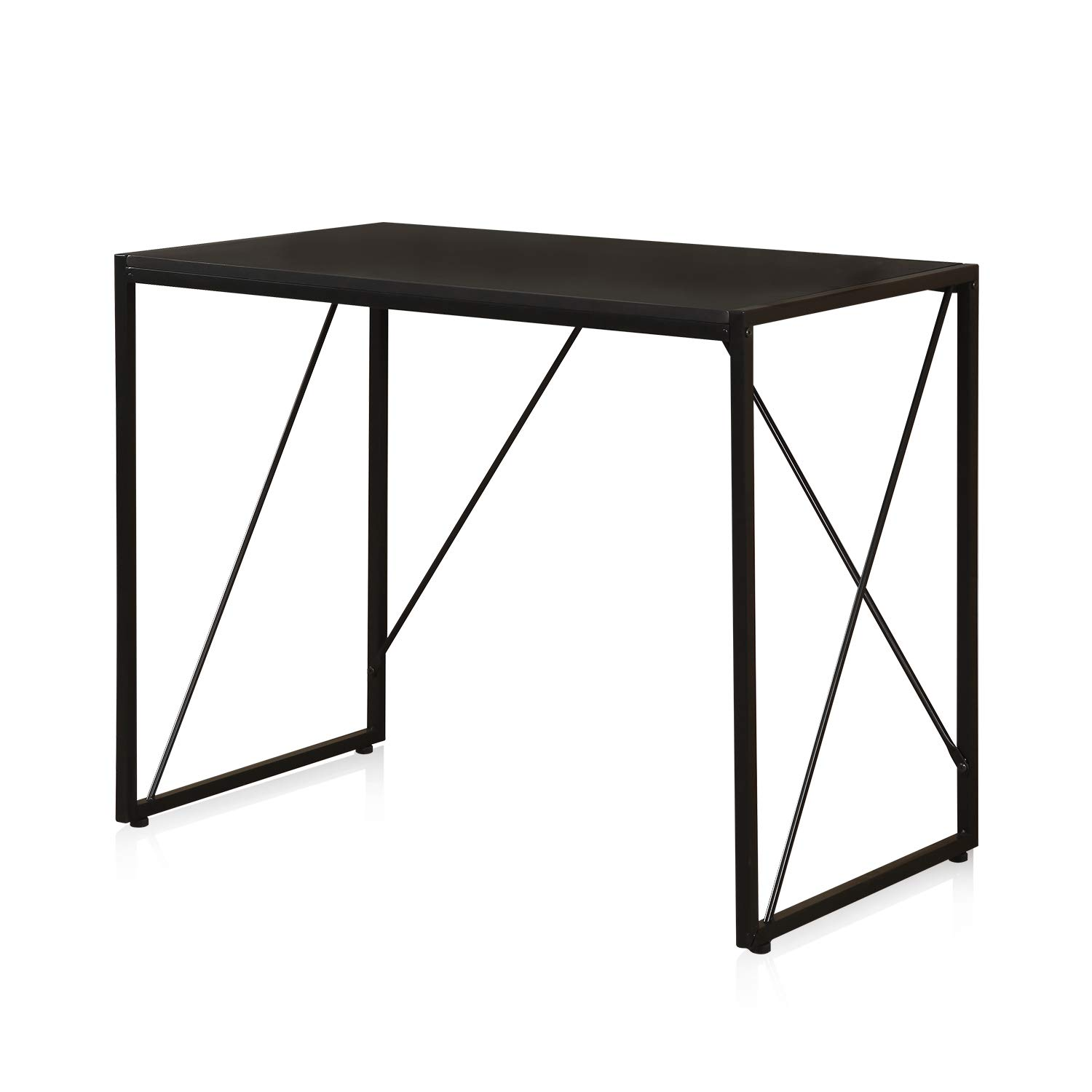 Computer Desk, Home Office Wood Sturdy Frame Compact Writing Table for Small Place, Apartment Office Furniture Sofa Bed Table, Study Writing, Table Small Gaming Desk HJ170570BK