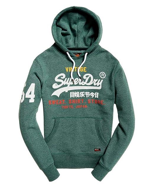 Superdry Sudadera Store Verde Hombre XS Verde