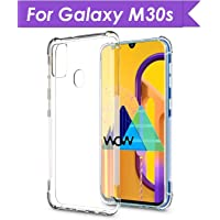 WOW Imagine Samsung Galaxy M30s Shockproof Back Cover Case | Flexible Protective Cushioned Edges Crystal Clear TPU Bumper Corners Back Case Cover for Samsung Galaxy M30s – Transparent