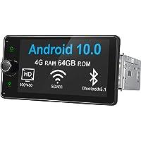 Joyforwa Android 10 Autoradio 6.2 Inch Display Single-Din In-Dash GPS Navigation FM Radio with Knob Physical Buttons…